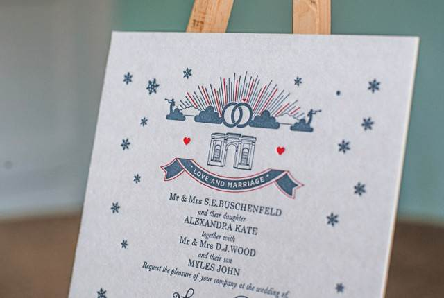 Vintage wedding stationery from To and From via The National Vintage Wedding Fair