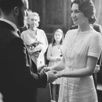 Real Wedding: hackney Town Hall, 1920s vintage ceremony as featured on the National Vintage Wedding Fair photographed by Claire Macintyre