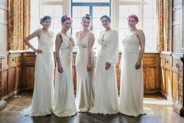 National Vintage Wedding Fair - Sue Kwiatkowska models wearing vintage wedding dress