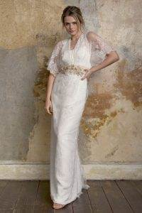 Sally Lacock 1970s inspired wedding dresses as featured on The Ntaional Vintage Wedding Fair blog
