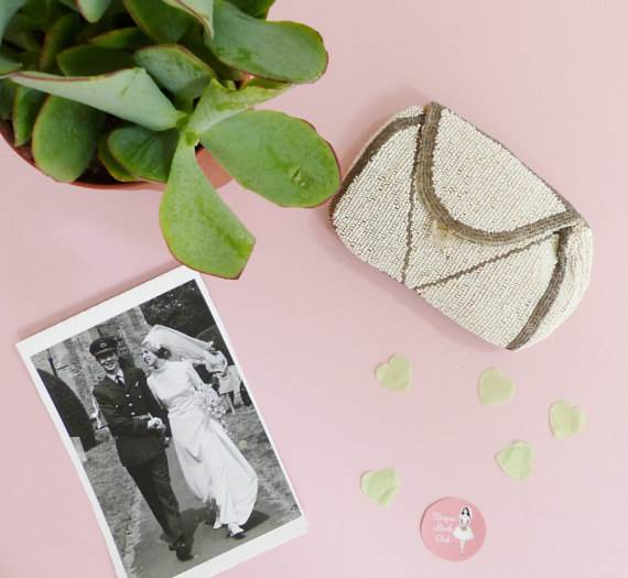 Vintage wedding bag from Unique Bride Club for sale via Magpie Wedding Shop