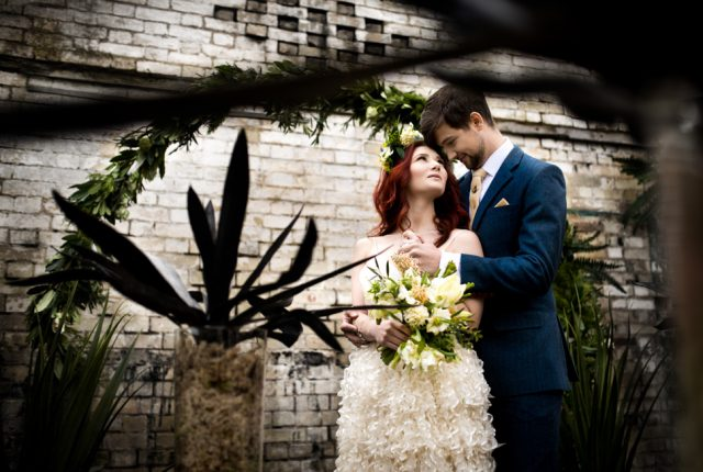 Alternative Wedding day Styling with Fresh Tropical Spring and Urban Cool Vibes