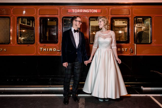 A Railway Museum Wedding with DIY Touches and Vintage Style