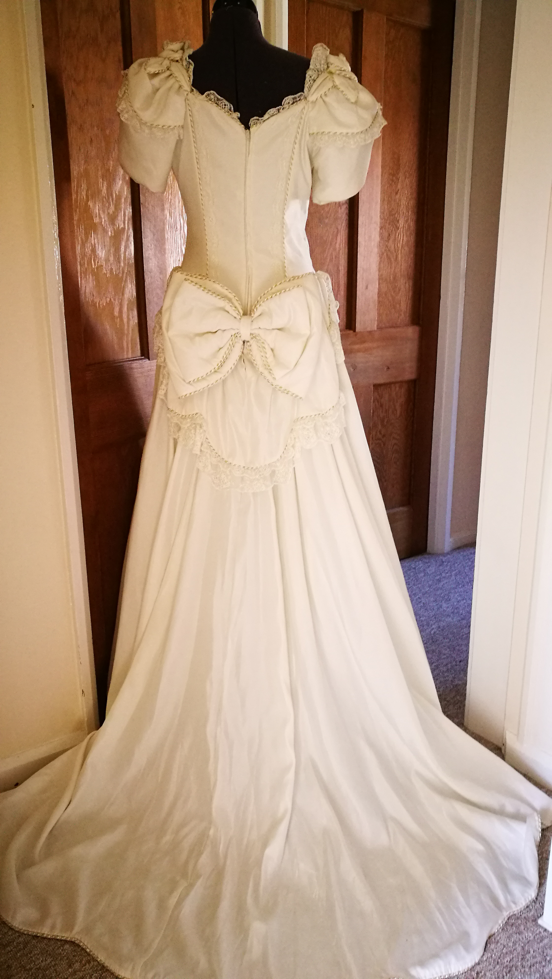 Repurposing a 1980s wedding dress