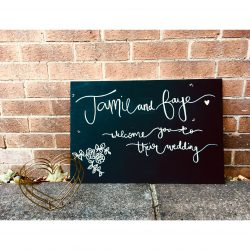 Personalised Chalkboard - Wedding Welcome