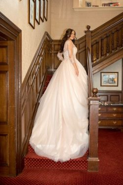 Bespoke wedding dress, blush