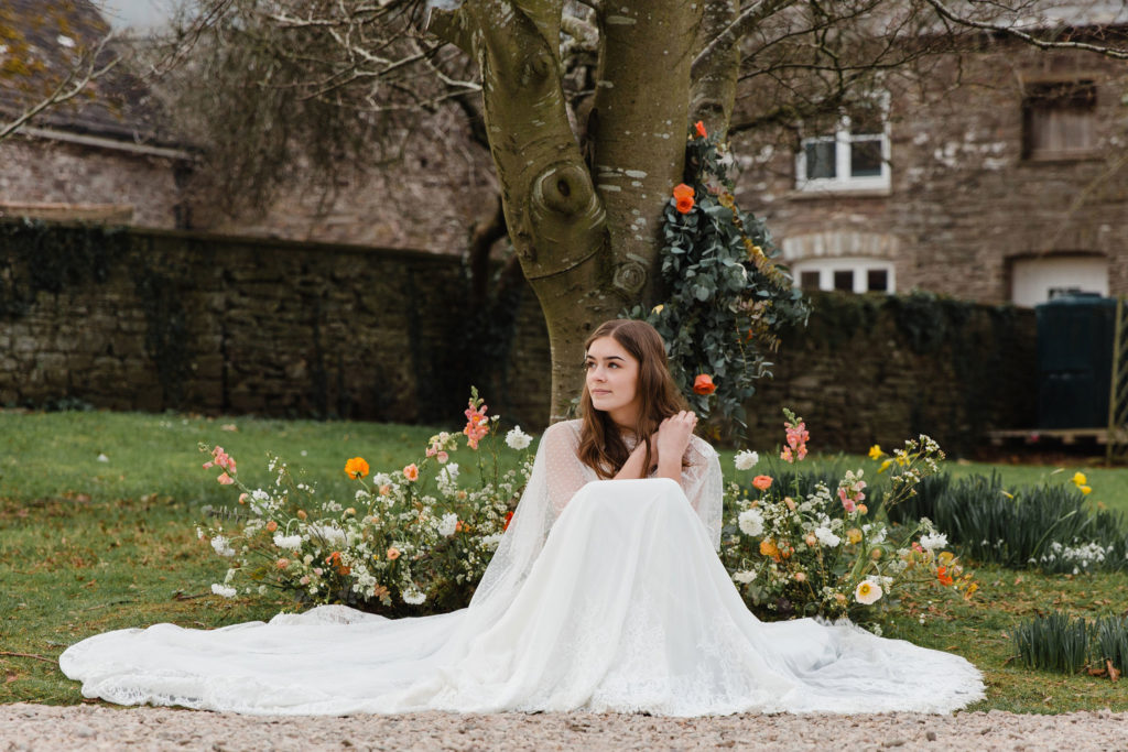 Garden Wedding with Blue Wedding Dress and Ethereal Fairy Vibes