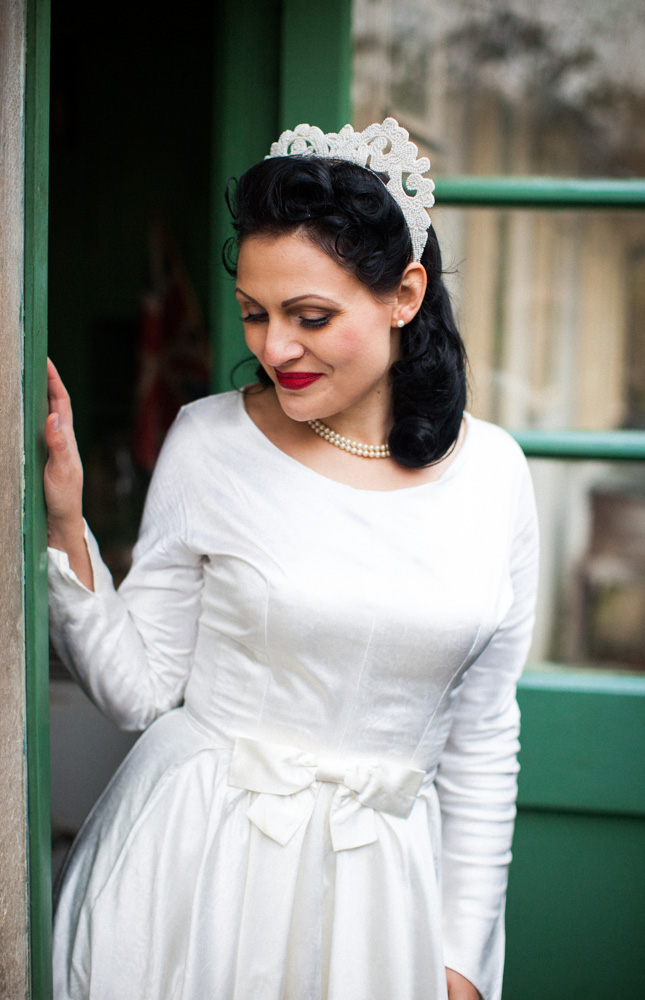 1940's Wedding Inspiration With Regal Crowns and Vintage Styling