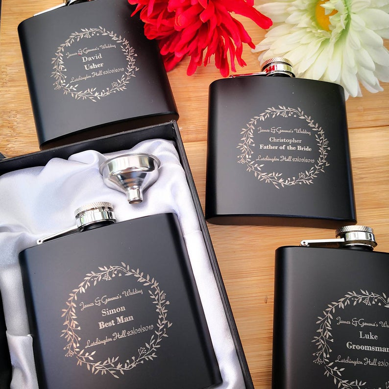 father of the groom hipflask