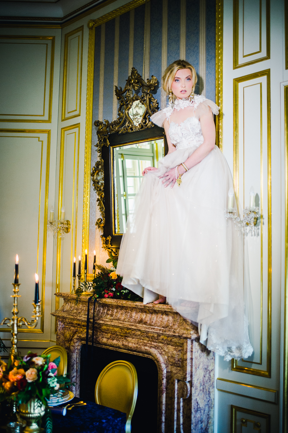 Luxury Chateau Wedding with Opulent Colourful Styling