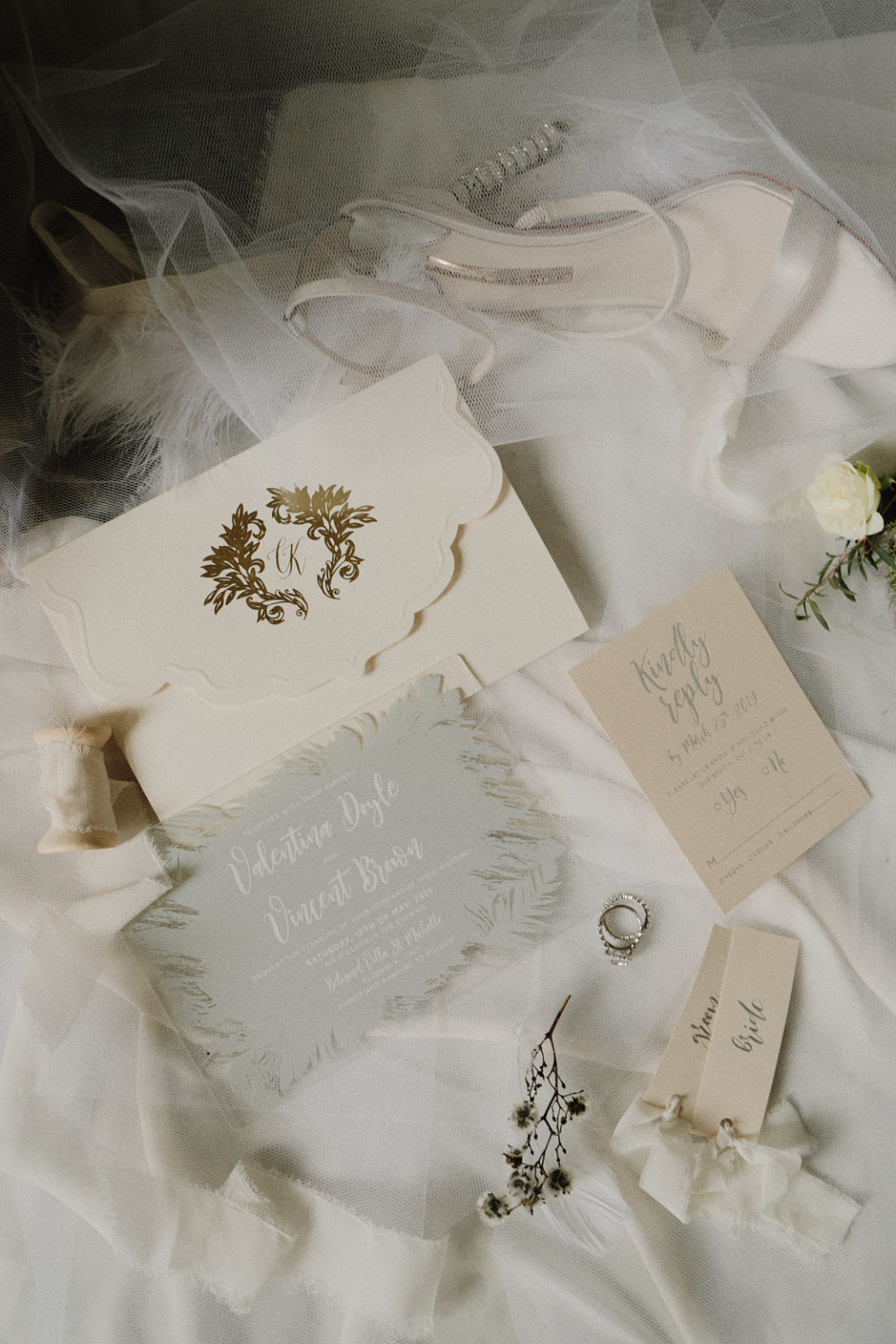 Swan Lake Wedding With Romantic Styling and Tutu and Feather Gowns