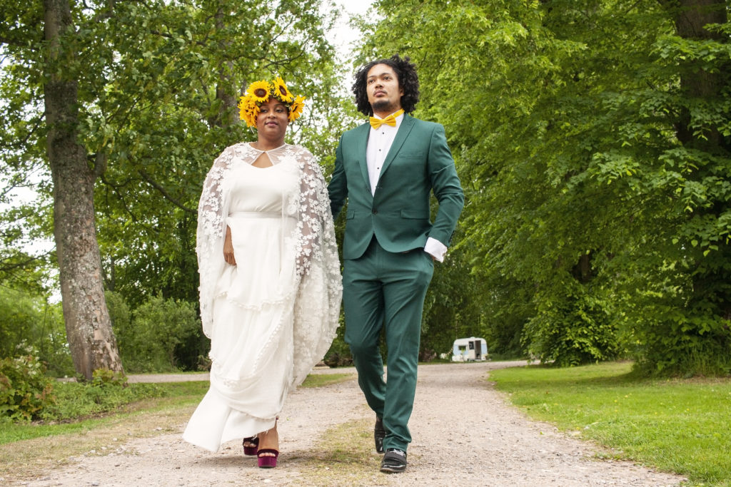 Not Just a White Wedding; Eco-Friendly Wedding With Bright Wild Florals