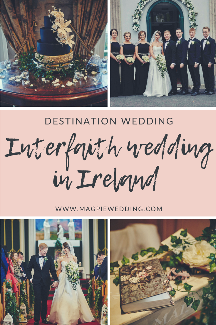 Traditional Interfaith Church Wedding at The Cliff at Lyons, Kildare, Ireland