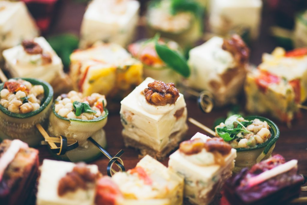 How to reduce the carbon footprint of your eco friendly wedding canapes