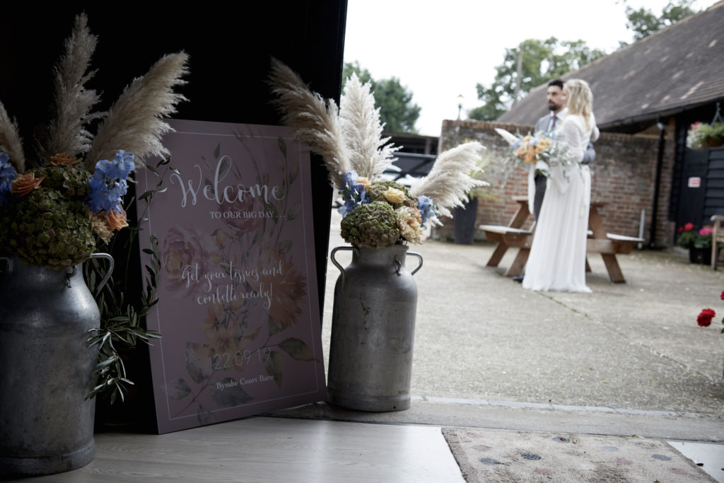 Luxe 1970's Inspired Wedding at Bysshe Court Barn Surrey