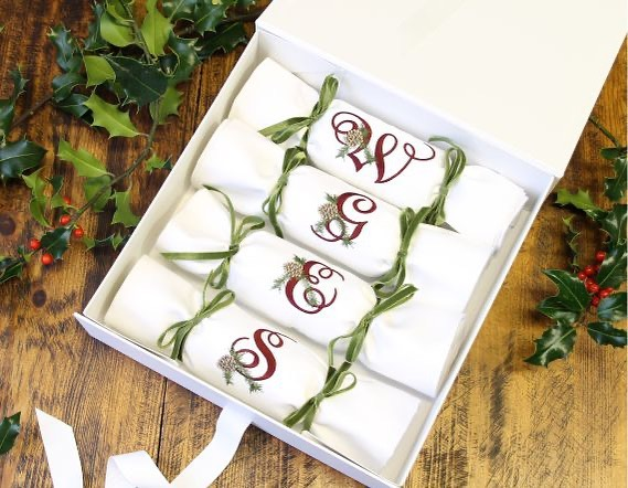 Re-usable, Eco-friendly Napkin Christmas Crackers