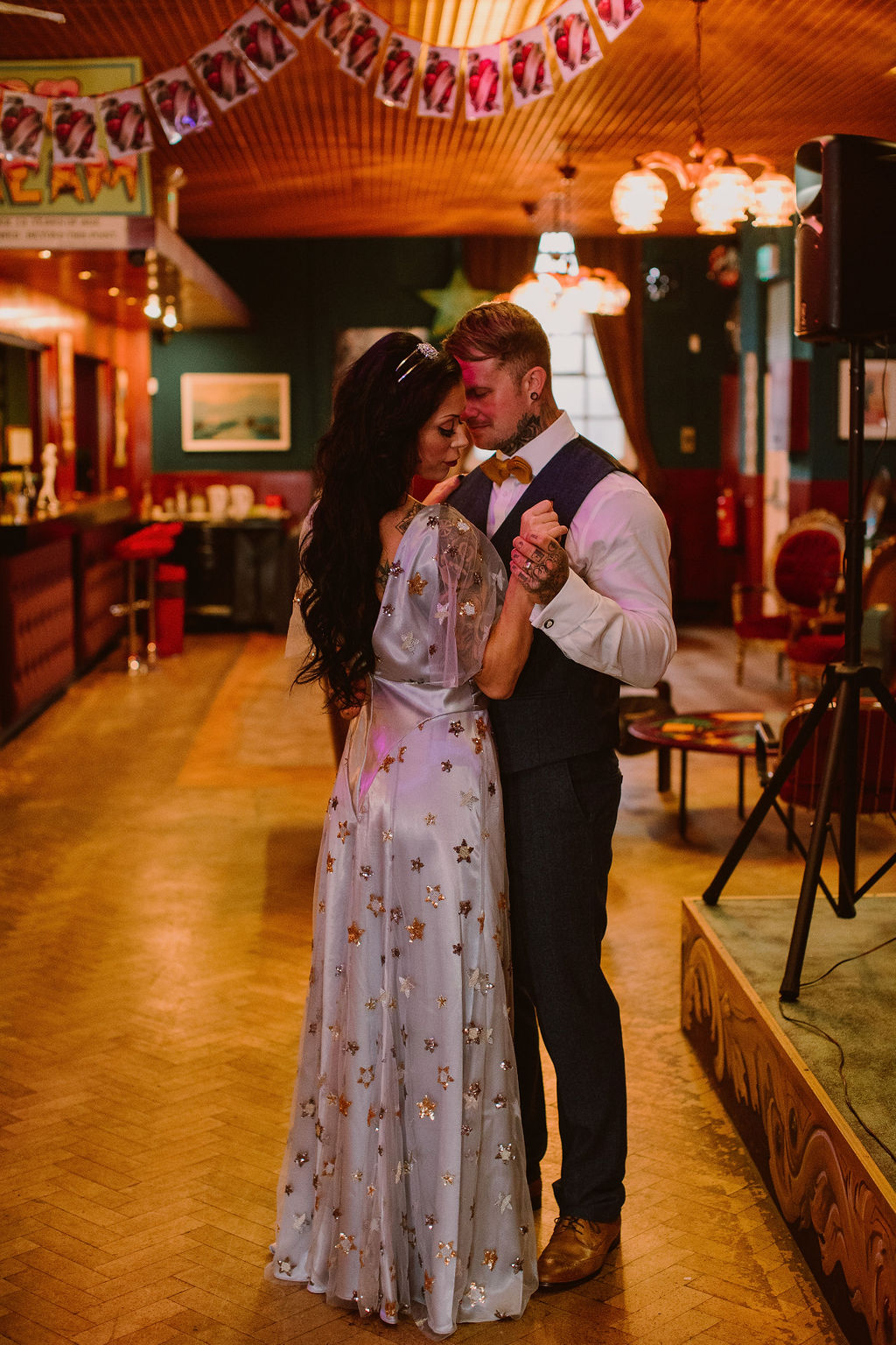 Vintage Cabaret Wedding Inspiration at The Lucky 7 Club Devon