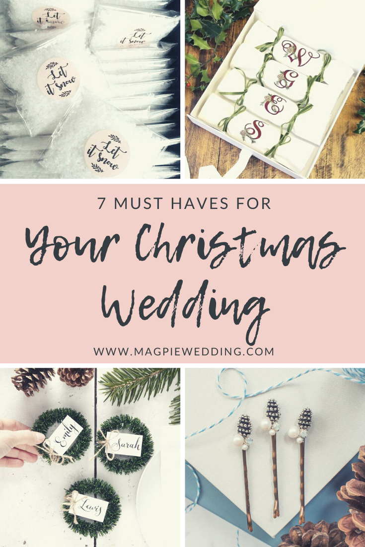 7 Must Haves For Your Christmas Wedding