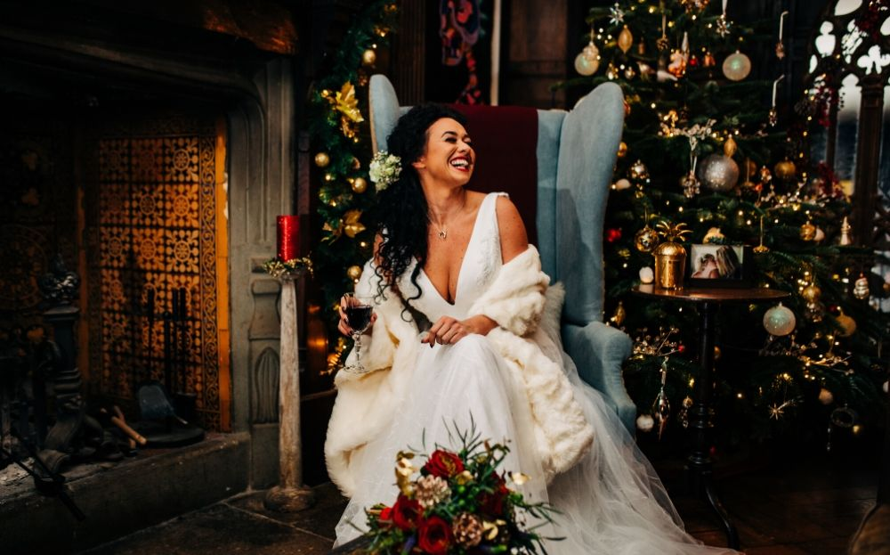 True Christmas Wedding Inspiration at Arreton Manor, Isle of Wight