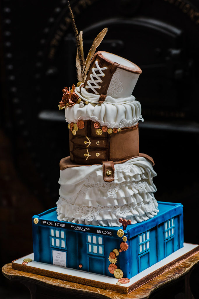 Victorian Dr Who Themed Wedding Cake