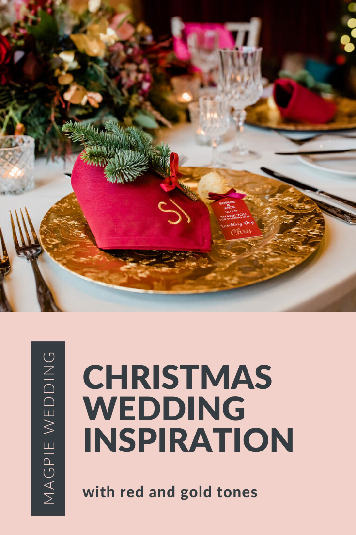 Red and Gold Christmas Wedding Ideas