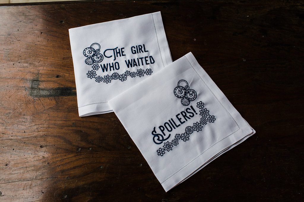 Doctor Who Themed Wedding Napkins and Hankies