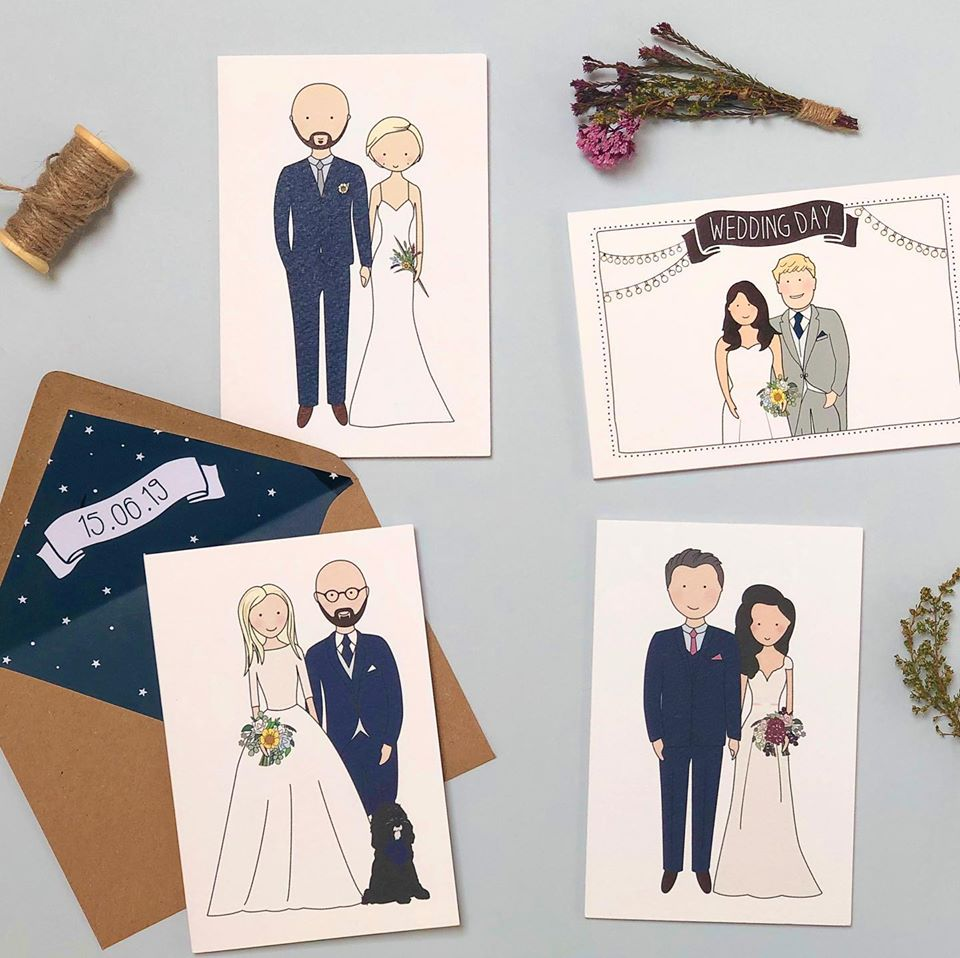 Personal Portrait Wedding Stationery