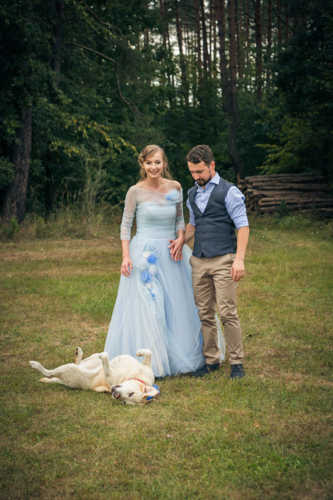 Pets At Weddings - White Labrador Real Wedding Shot