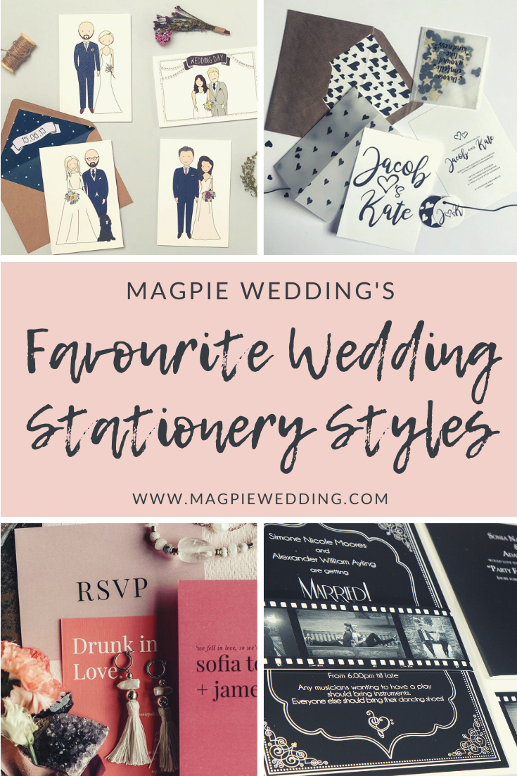 Magpie Wedding's favourite wedding invitation styles