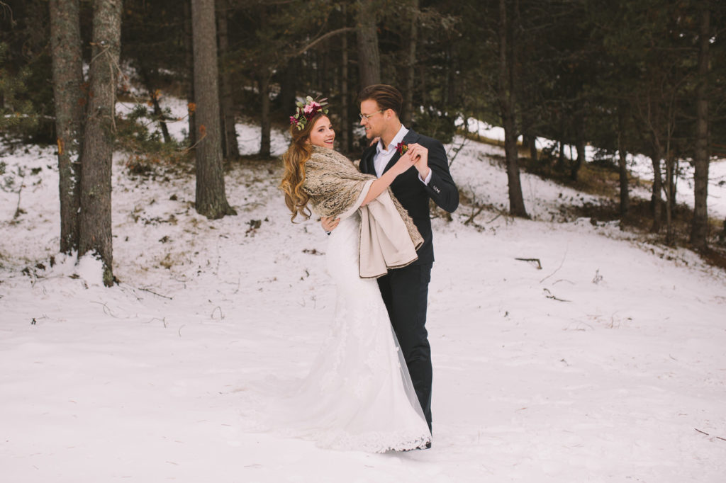 Romantic Winter Wedding Inspiration In The Catalonian Mountains