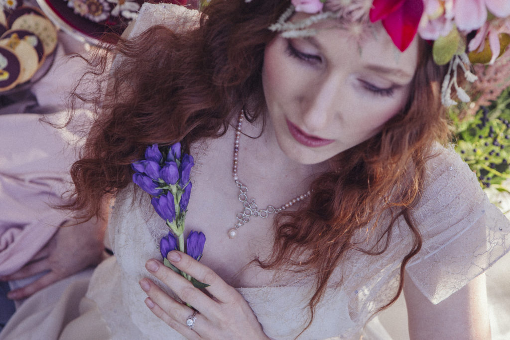 Ethereal Wedding With Dreamy Bridal Headwear and Floral Details