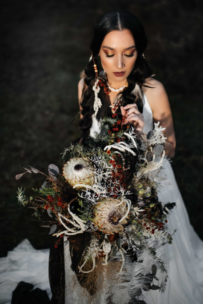 Forest Wedding Inspiration With Alternative Bridal Style