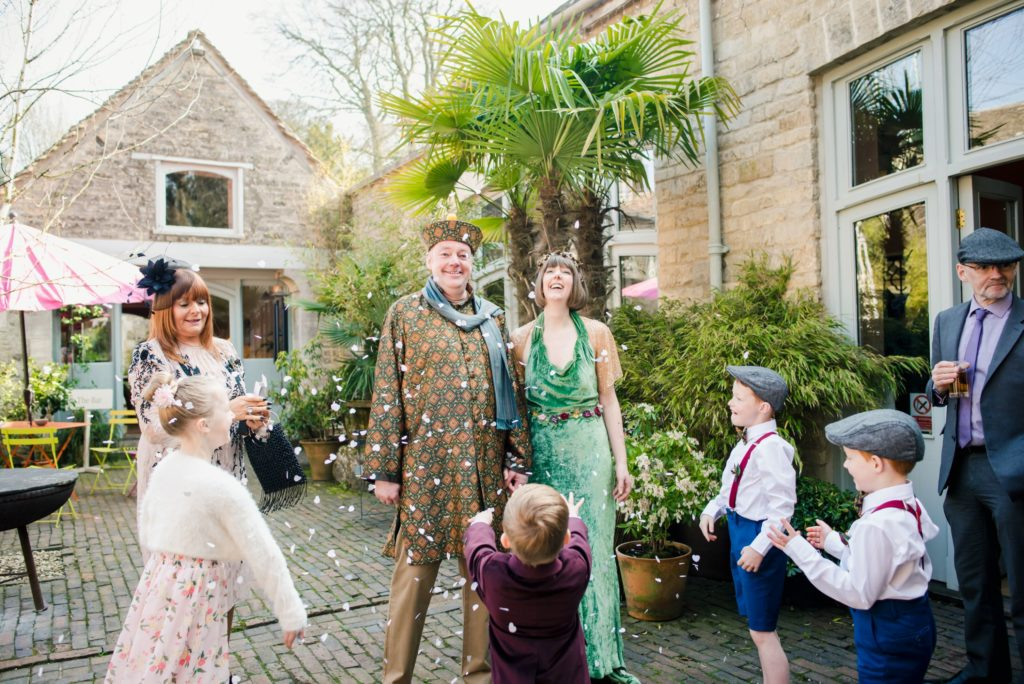 Eclectic DIY Sustainable Wedding at Matara Centre, Cotswolds