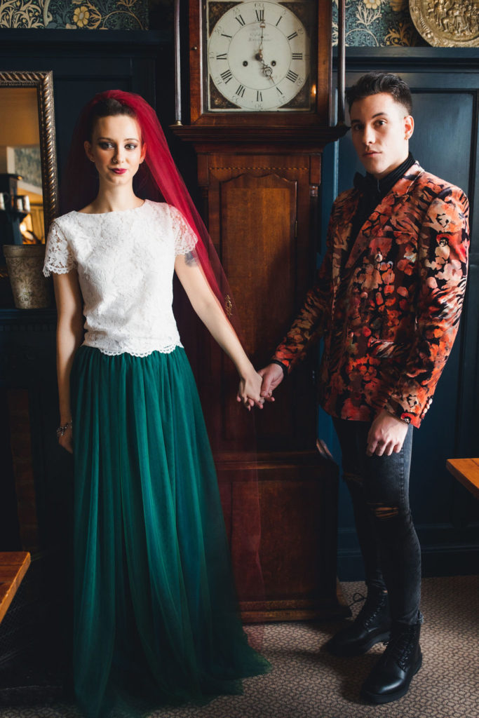 Alternative and Relaxed Rock Wedding Inspiration at The Greyhound Hotel, London