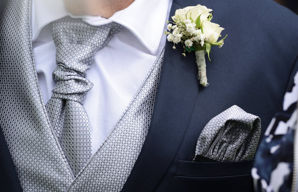 Should You Wear A Cravat Or A Tie With Your Wedding Suit?
