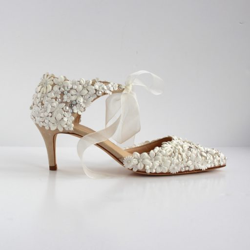 Low Heel Wedding Shoe - Bettina