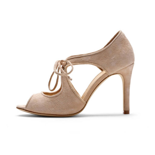Nude Peep Toe Wedding Shoe - Waterlily