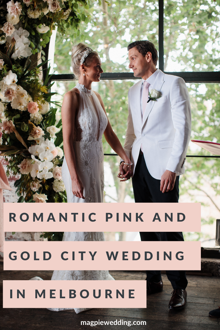 Romantic Pink and Gold Wedding at Panama Dining Room, Melbourne