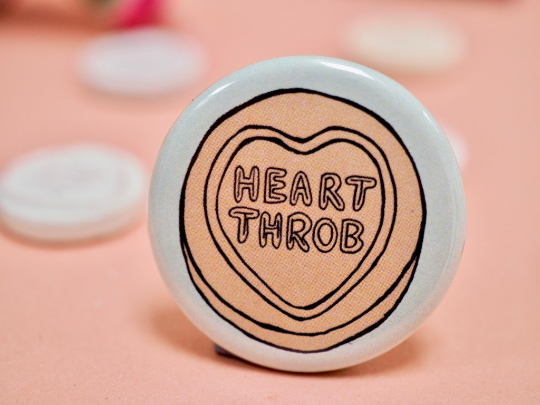 Love Heart wedding Badges
