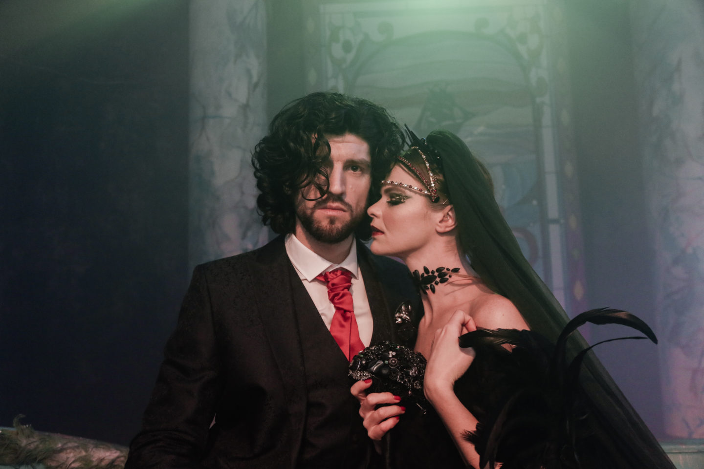 Gothic Opulent Wedding Inspiration At The Vaults, London
