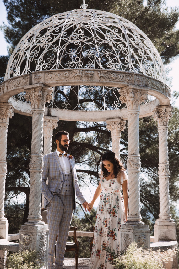 French Chic Picnic Wedding at Château Saint Georges, Grasse
