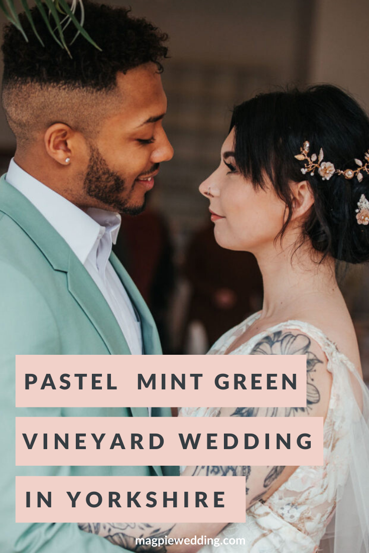 Luxury Vineyard Mint Green Wedding At Holmfirth Vineyard, Yorkshire