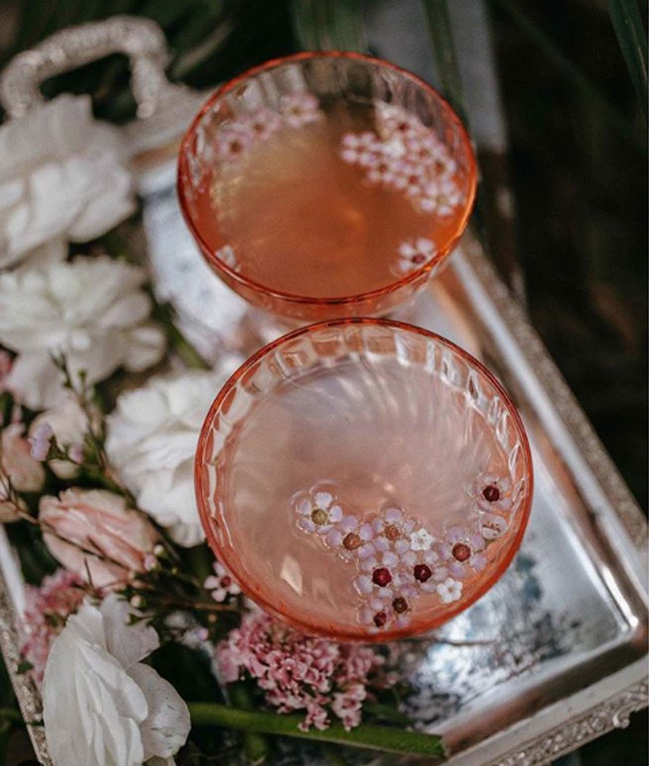 Romantic Styling Ideas For Small Intimate Weddings - ANTIQUE VINTAGE GLASSWEAR