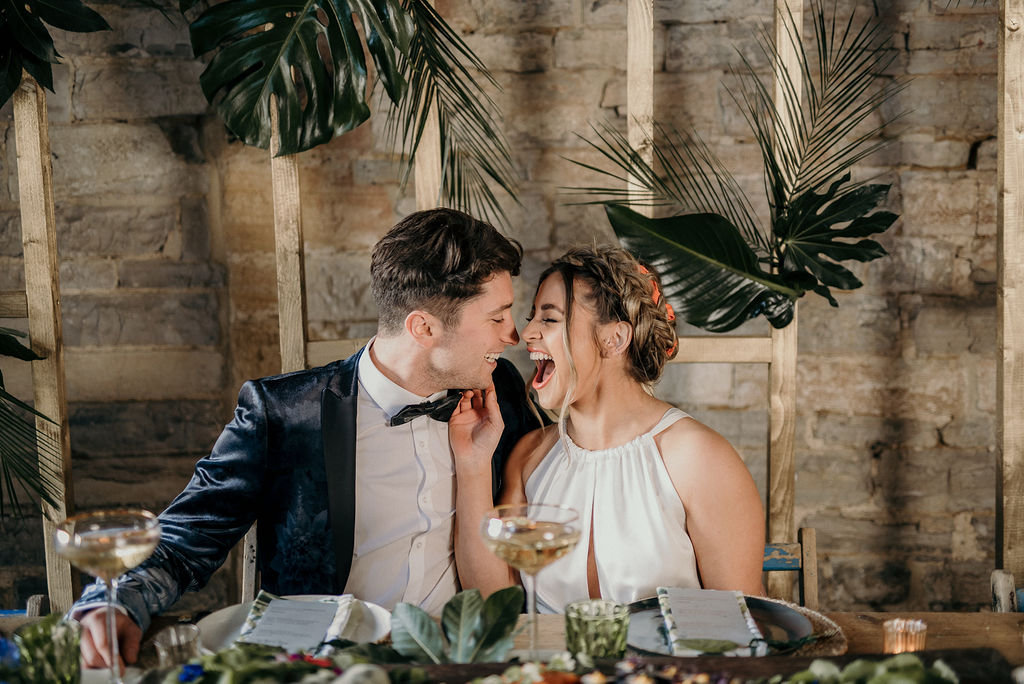 Tropical Luxe Wedding Inspiration At ​Almonry Barn, Somerset