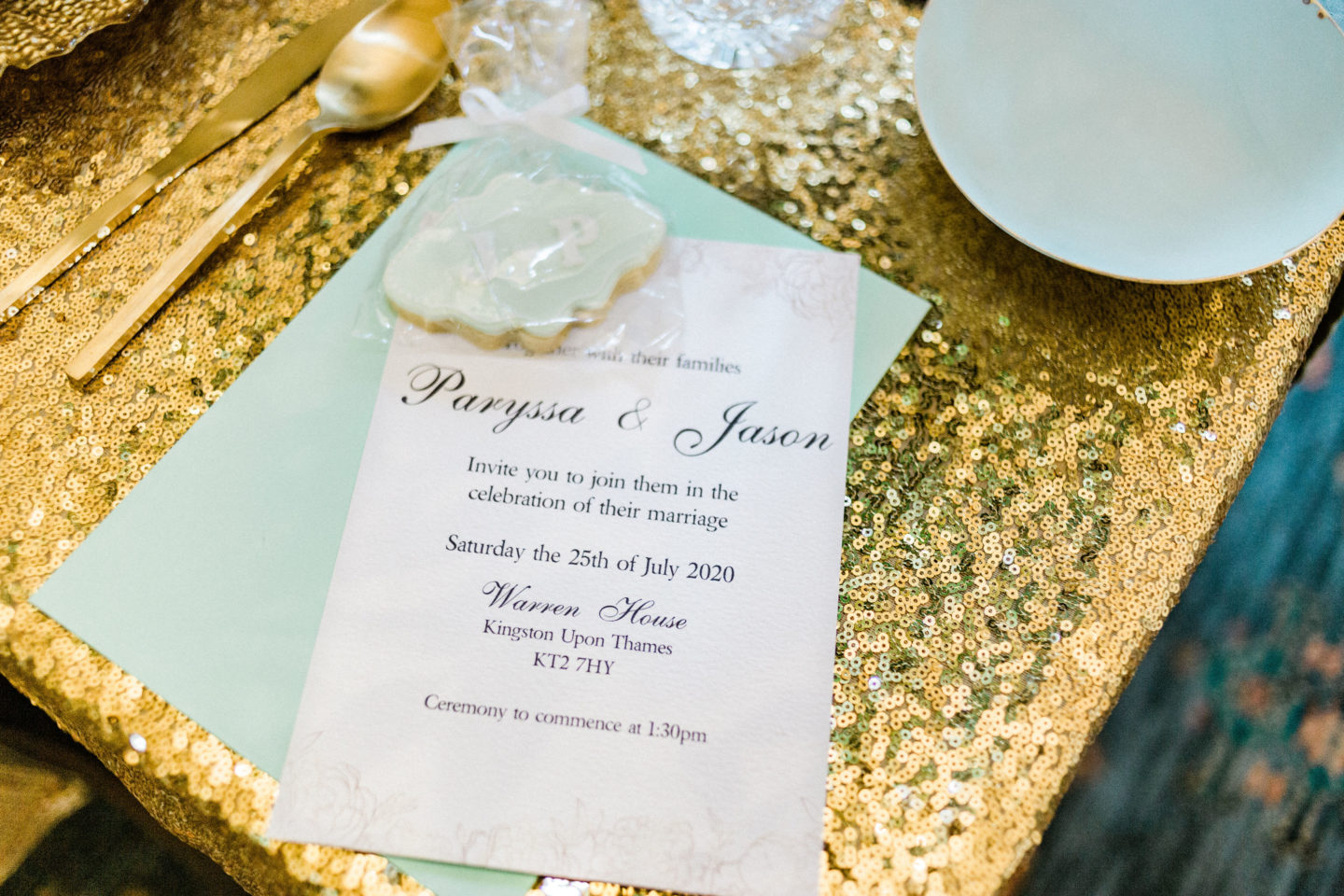 Mint and Gold Wedding With Italian Inspired Styling At The Warren House, Surrey