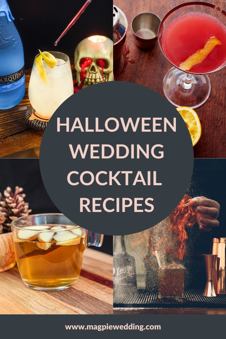 Autumnal Halloween Wedding Cocktail Recipes That Your Guests Will Love