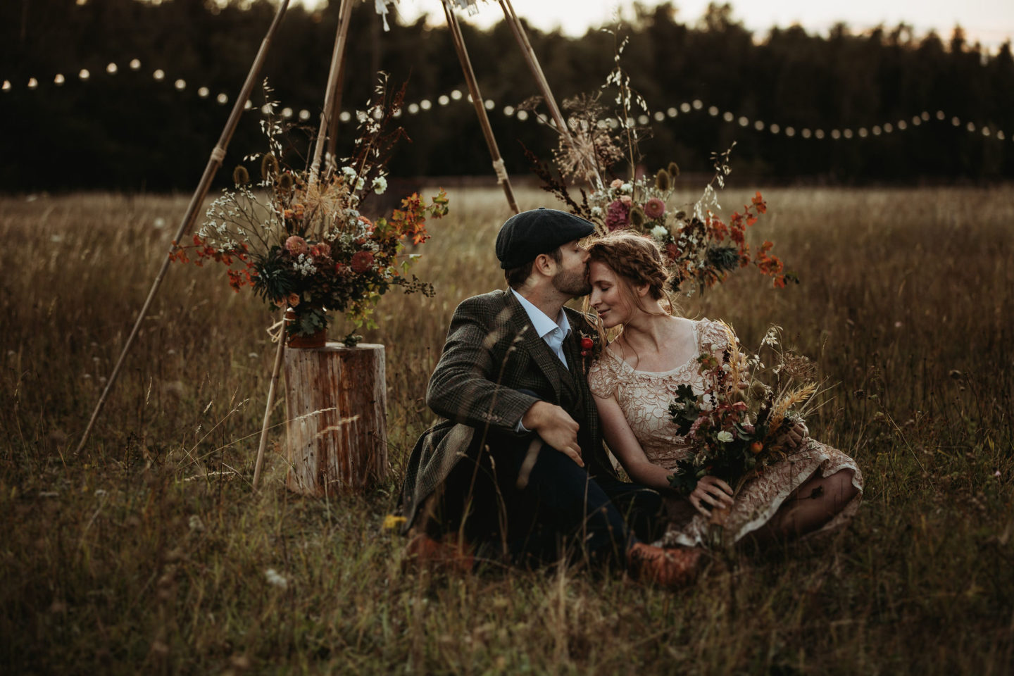 Eco-Weddding At Wellington Wood With Autumn Folklore Vibes