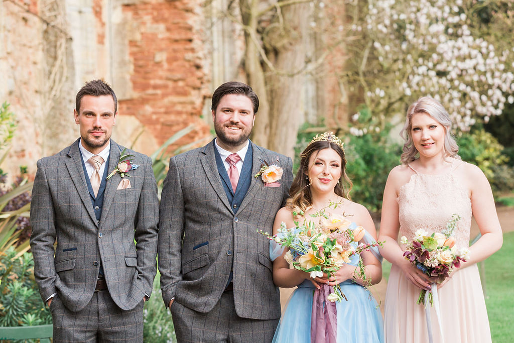 Romantic Pastel Coloured Wedding At Bishops Palace Wells, Somersetfor this Shades of Wuthering heights styled shoot.""