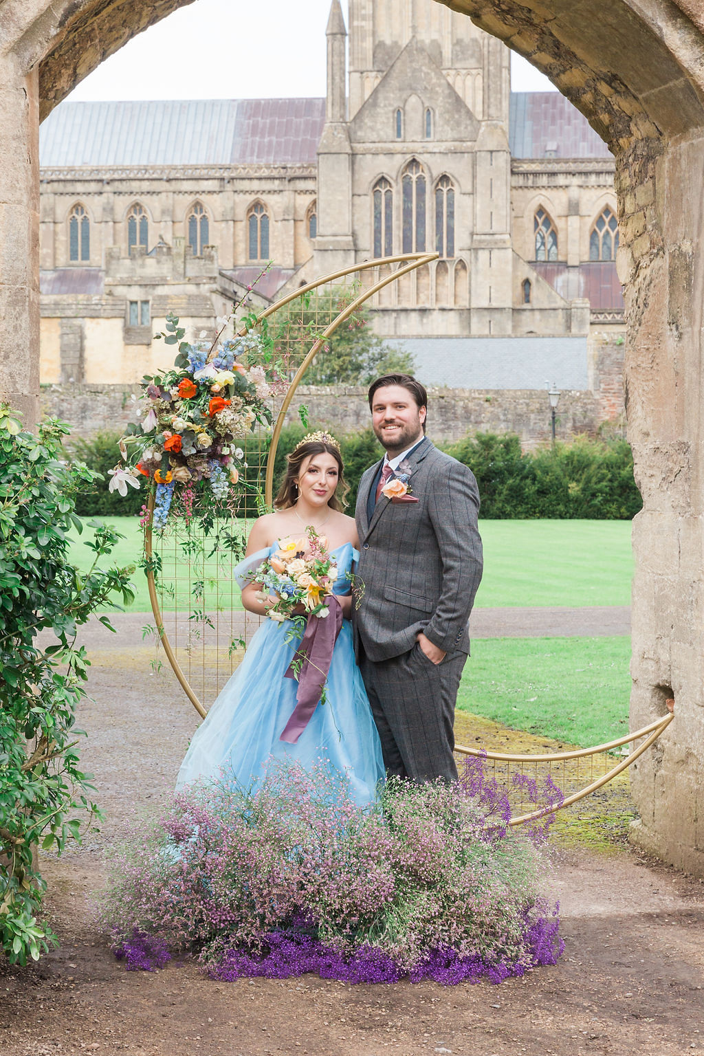 Romantic Pastel Coloured Wedding At Bishops Palace Wells, Somerset