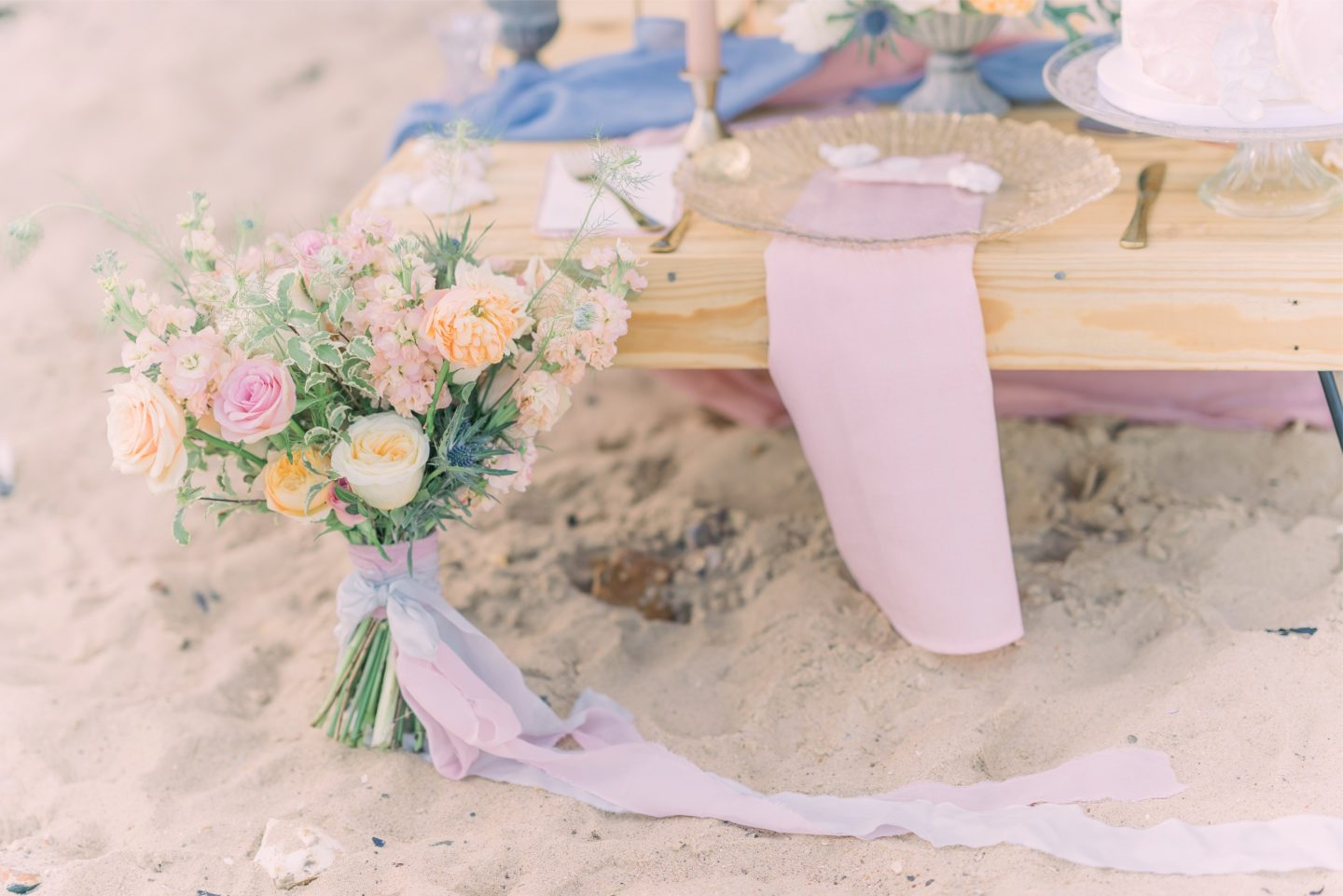 Beach Elopement Wedding With Dreamy Pastel Styling At East Mersea Island